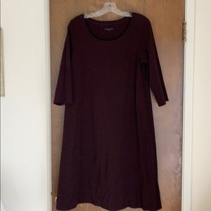 Eileen Fisher 3/4 sleeve Organic Cotton Dress